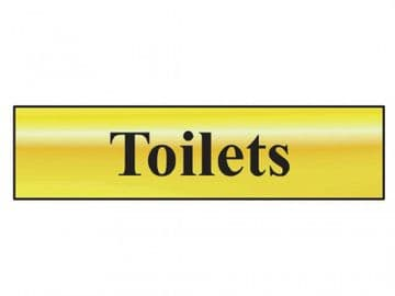 Toilets - Polished Brass Effect 200 x 50mm
